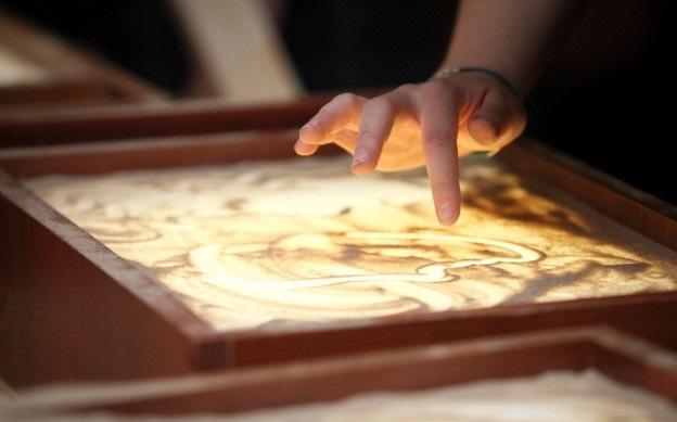 без обучение рисованию на световом столе песком этого
